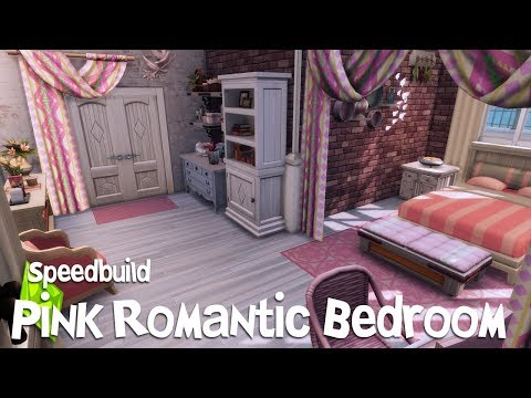 Pink Romantic Bedroom | Speed Build | The Sims 4 - YouTube