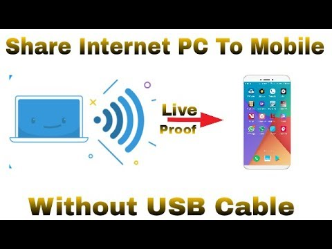 How to share hotspot from pc to mobile