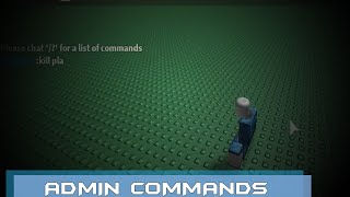 Roblox Admin Commands Tutorial