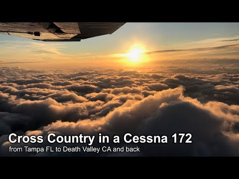 VFR Cross Country flight in a Cessna 172 from Florida to California