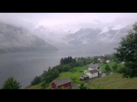 Deep fog in the fjord of Norway. This will make you relax. AMAZING