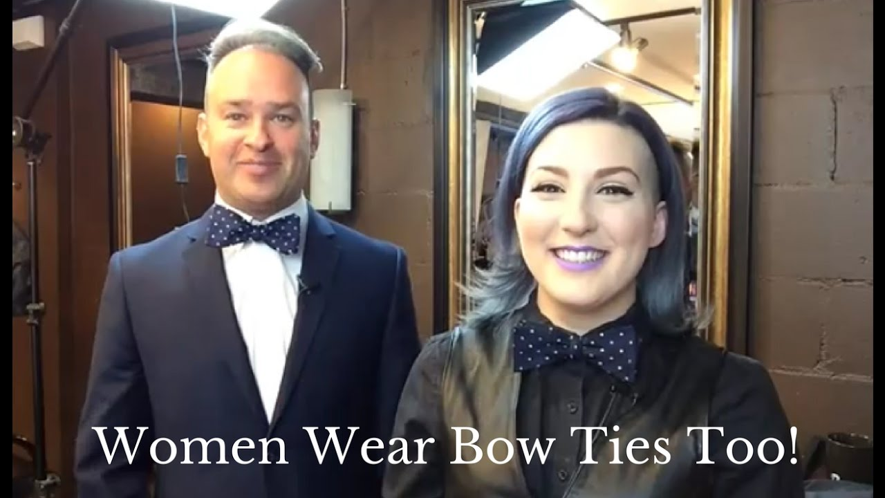 How to tie a womens tie beautifully