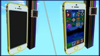COMO TENER UN iPHONE QUE FUNCIONA EN MINECRAFT PE ! - MAPAS CON BLOQUES DE COMANDOS