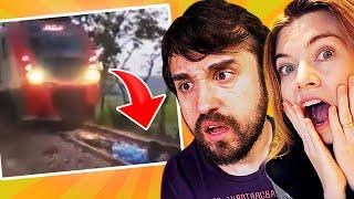 ENTROU EMBAIXO DO TREM!!! - Vídeos que QUASE deram errado