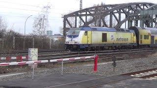 Hamburg: Trains at the Bridges of Northern River Elbe