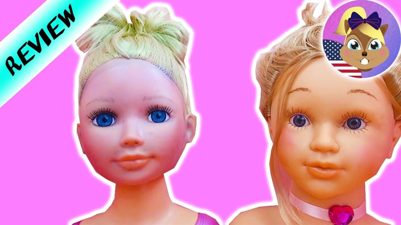 comparison: my model vs princess coralie - makeup and hairstyling