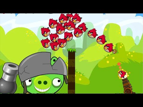 Angry Birds Cannon Collection 2 - OVERDRIVE SHOOTING 100 ANGRY BIRDS TO BAD PIGS!!