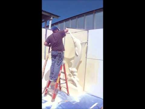 polyurea spray coating over EPS foam foamlinx wmv