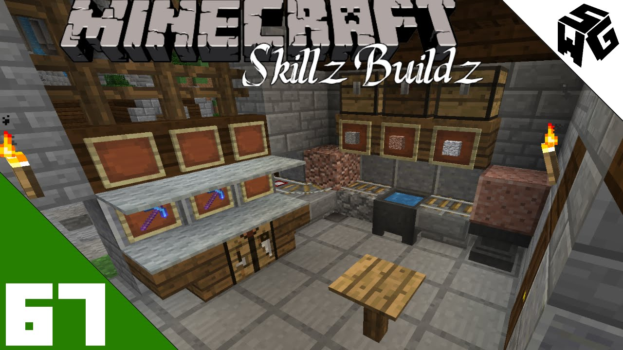 Cool Interior To Stone House Skillz Buildz Single Player Vanilla Survival Minecraft 1 9 Ep67 Youtube