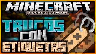 Minecraft Pe 0.15.0: Trucos Con Etiquetas! - Mobs De Cabeza, Ovejas De Colores y Mas!