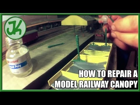 How to Repair a plastic model railway building kit