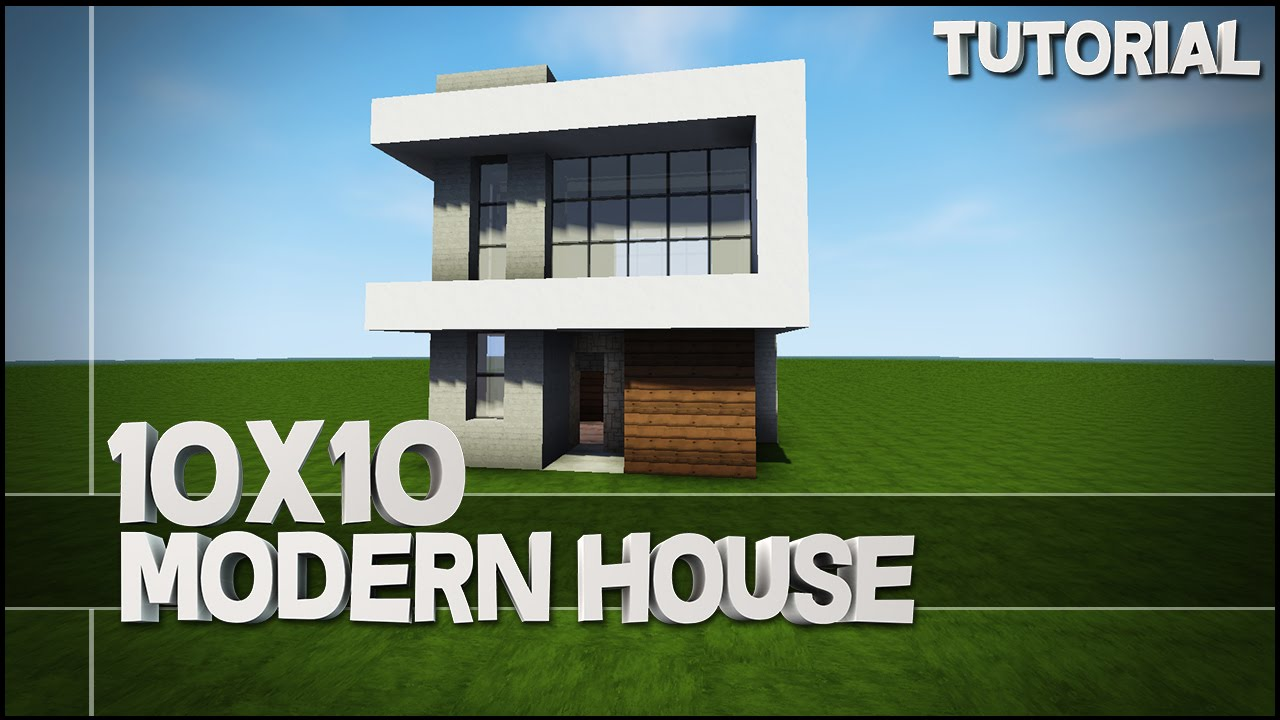 Minecraft house tutorial 10x10 modern house best house for How to build a modern home