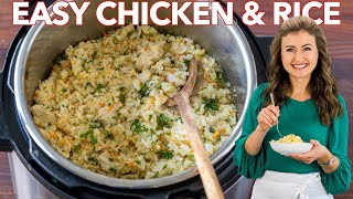 Instant Pot Chicken and Rice | One Pot - 30 min Dinner