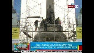 BP Rizal Monument Nilinis Gamit Ang Makabagong Kagamitan Ng Isang Kumpanya