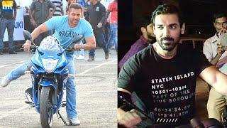 Salman Khan & John Abraham Riding Bike On Mumbai Roads