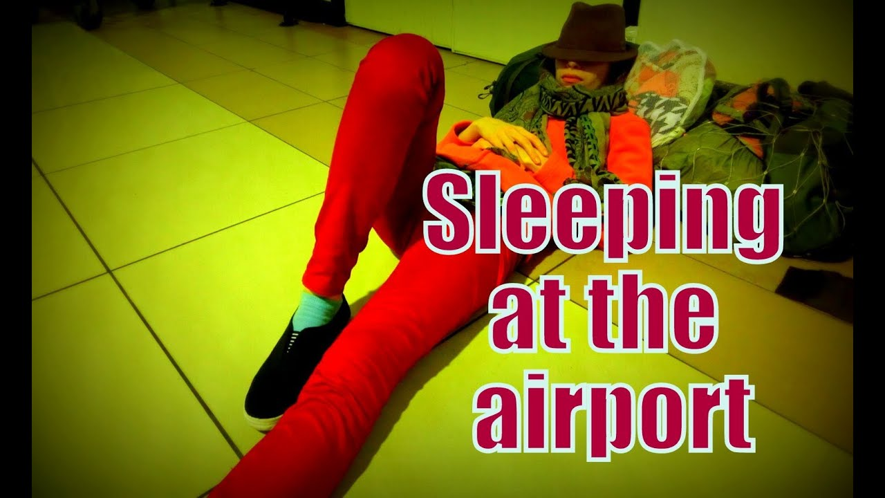 Sleeping On The Floor At Kuala Lumpur International Airport Low Cost Carrier Terminal Malaysia