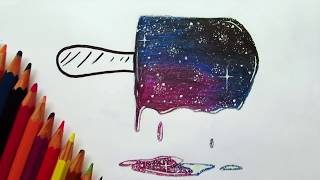 How to draw Galaxy w/Cheap Pencils