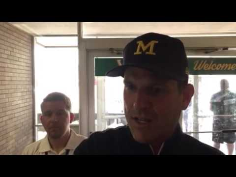 Jim Harbaugh discusses the controversial nature of society