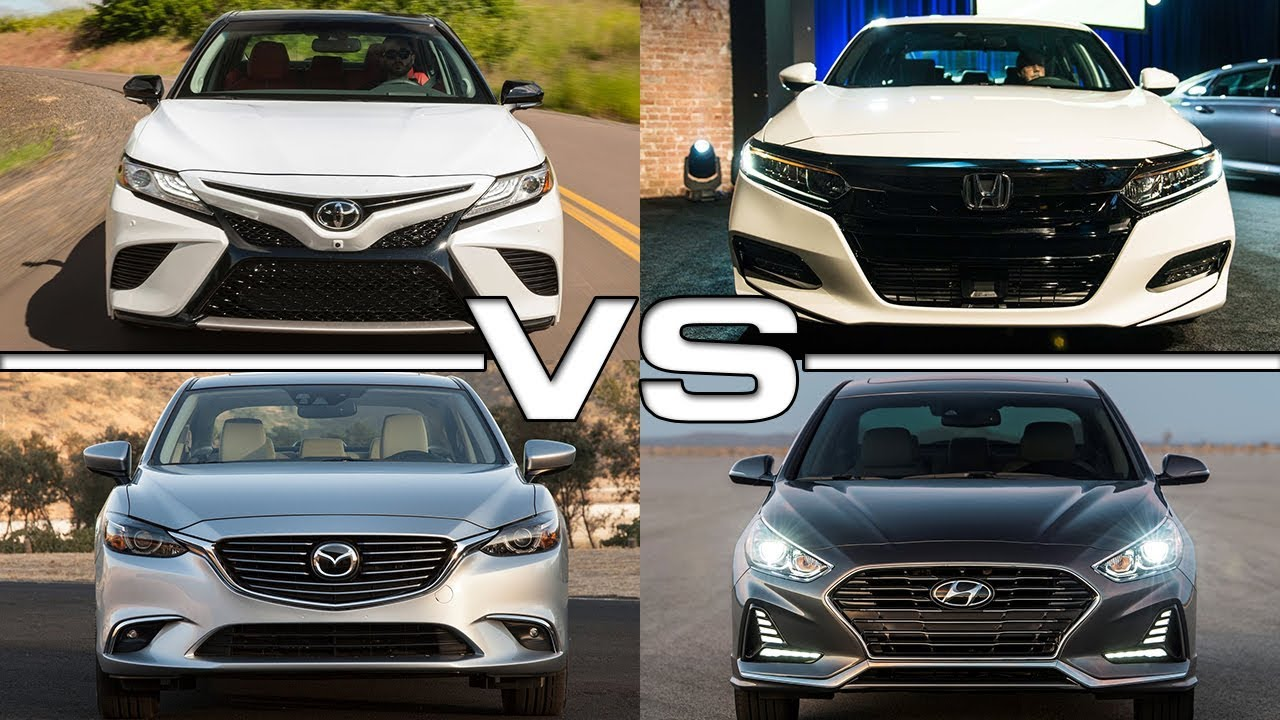2018 Toyota Camry Vs 2018 Honda Accord Vs 2017 Mazda 6 Vs
