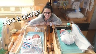 TWIN LABOR & DELIVERY VLOG  |  Paige Tilson