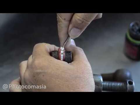 Precious Stone Setting in Silver Ring, Jewellery Manufacturing in Bangkok