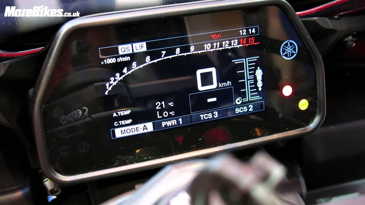 Yamaha R Digital Dash