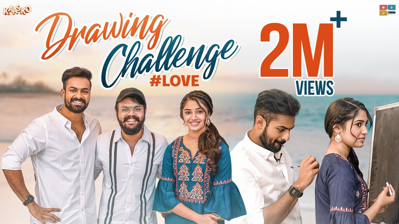 Download DRAWING CHALLENGE | Ft.Panja Vaishnav Tej & Kriti Shetty |100th episode | Kaasko | Tamada media