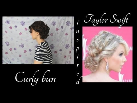 Taylor Swift Inspired Fancy Curly Bun Hairstyle Tutorial