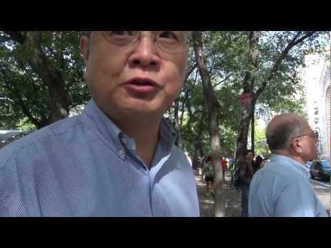 Chinese tourist views on The Occupy Wall Street Movement