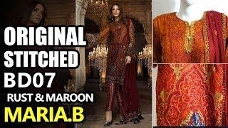 9b31f23703 Maria B Eid Collection 2018 - Stitched Rust & Maroon BD-1407 - Pakistani  Branded ...