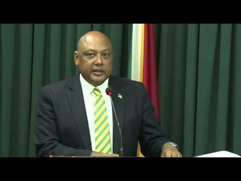 Post Cabinet Media Briefing with Min. of Natural Resources, Hon. Raphael Trotman - March 24, 2016