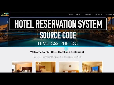 Hotel Reservation System (HTML, CSS, PHP, MySQL) Source Code