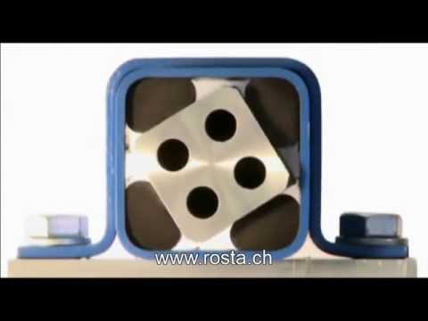 Rubber Torsion Spring Rosta Youtube