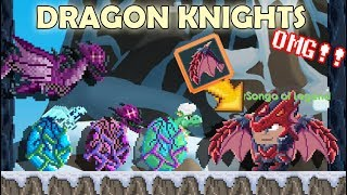 MAKING NEW DRAGON KNIGHT ITEMS + HARVESTING DRAGONS!! OMG!! | GrowTopia