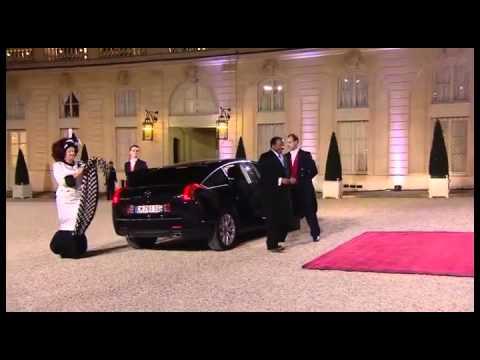 Paul Biya Et ChanTal en Visite a Paris