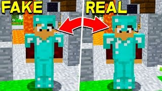FAKE MINECRAFT DIAMOND ARMOUR TROLL! (Minecraft Trolling)