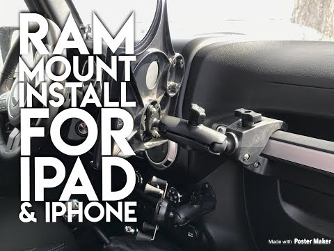 410X Presents: 2018 Jeep JK Ram Mount Solutions For IPad And IPhone