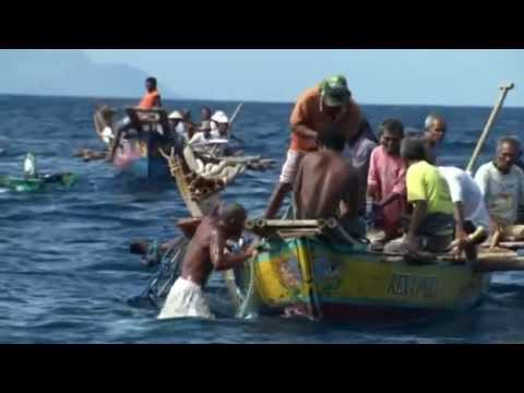 BBC Human Planets - Catching a whale with harpoons