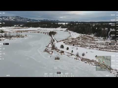 Drone Video Survey With Data Overlay