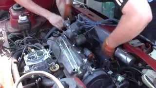 Как снять двигатель таврии 1102.