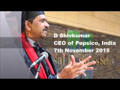 Shivakumar CEO of PepsiCo India speaks about UBS