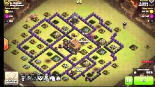 Clash of clans - A guerra mais foda do clash of clans est- gowipe e corredores e dg