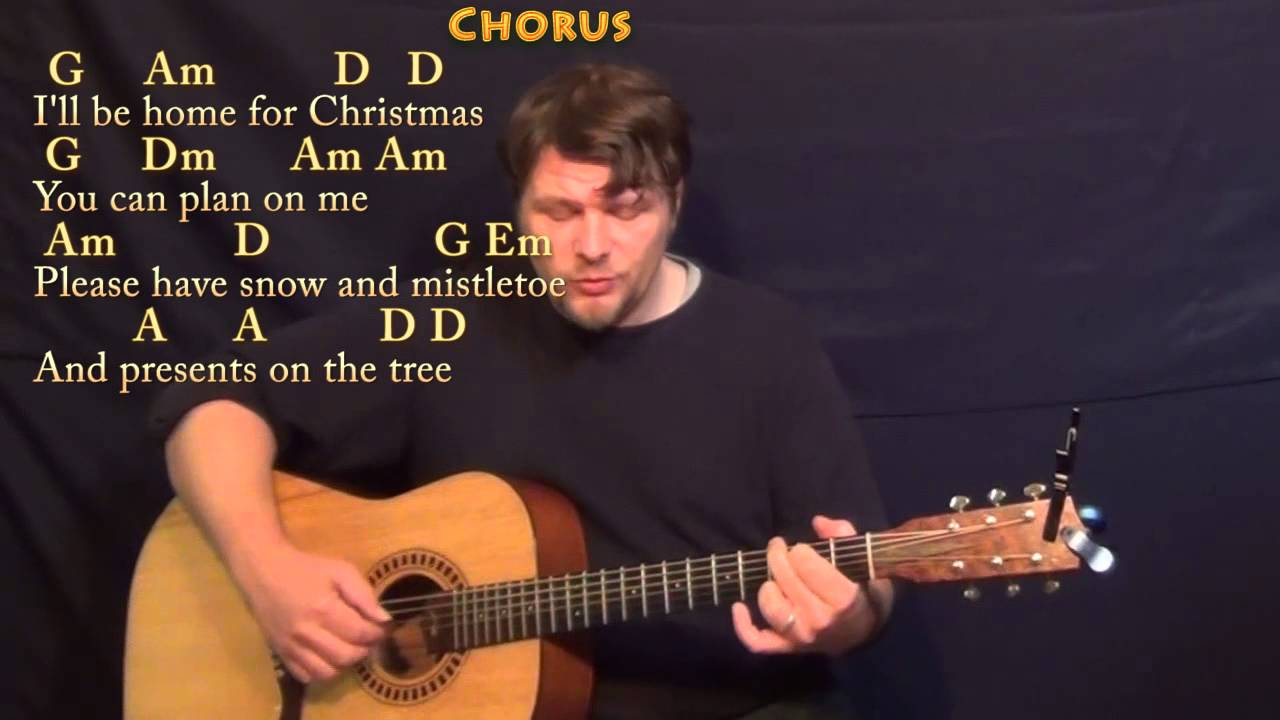 I'll Be Home For Christmas - Fingerstyle Guitar Cover Lesson in G with Chords/Lyrics - YouTube