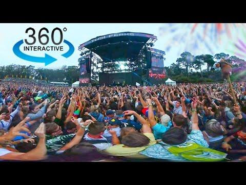 360º Camera in a Crowded Music Festival