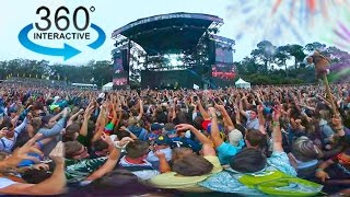 360º Camera in a Crowded Music Festival