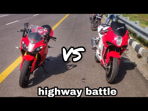 APACHE RR 310 VS HYOSUNG GT 250 || highway battle || Drag race ||