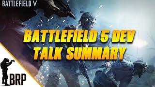 Battlefield V Dev talk summary
