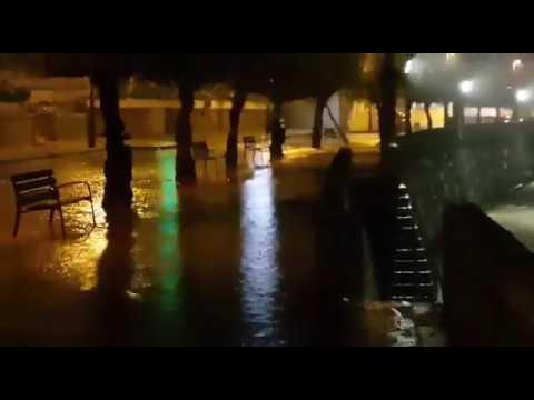 Las lluvias dejan grandes bolsas de agua en Sanxenxo
