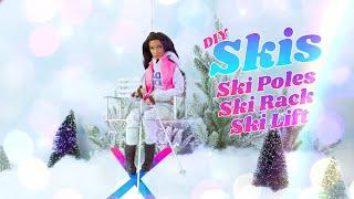 Dollhouse Miniature Snow Skis
