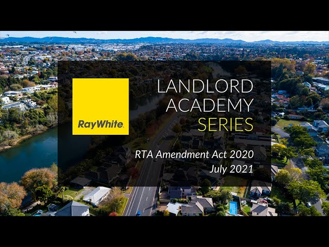 Ray White - July 2021 Update - Residential Tenancies Amendment Act 2020